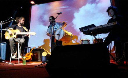 Junto a Eduardo Correa y Lucas Moyano, en Sala Bordemar, Algarrobo.